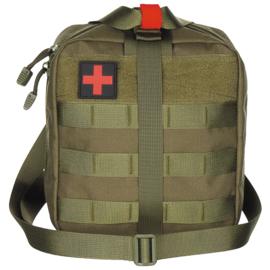 Medische tas geneeskundige dienst BLS IFAK Bag MOLLE - LARGE - 21 x 22 x 12 cm. - nieuw gemaakt - GREEN