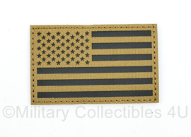 Amerikaanse leger infrarood patch - Coyote - met klittenband - Amerikaanse vlag - 5 x 8 cm