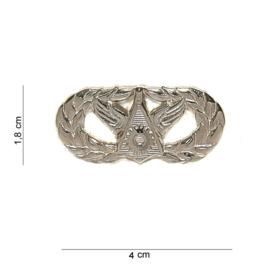 US Army civil engineer badge metaal - 1,8 x 4 cm