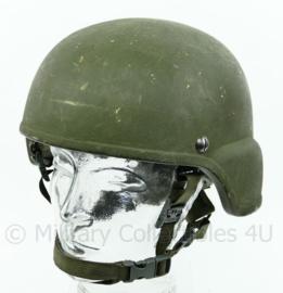 Nederlandse leger ballistische helm - camfit straps - team WendyExfil - maat Large - gedragen - origineel