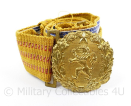 Bulgaarse officiers parade koppel met een leeuw op het slot - 70 x 5 cm - origineel