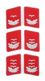 Luftwaffe kraagspiegels  Flak officier (rood)  - Leutnant tm. Hauptmann