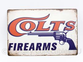 Metalen plaat Colts Firearms - 30 x 20 cm.