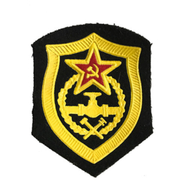 Russisch USSR embleem pijplijn troepen - 8 x 6,5 cm. - origineel