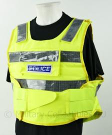 Britse politie fluor geel vest - kogelwerende hoes leeg - nieuw - large  - origineel