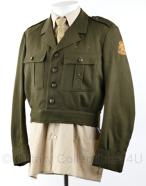 Nederlandse leger 1971 KL DT jas kort model - maat 49 - gedragen - origineel