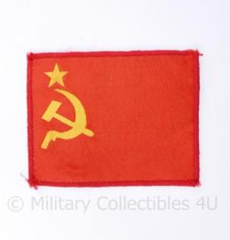 Russische USSR vlag voor op het uniform - 9 x 7 cm - origineel