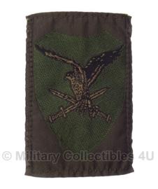 KL Nederlandse leger Luchtmobiele brigade embleem met klittenband 8 x 5,5 cm. - voor gevechtstenue - origineel