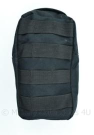 Nederlandse Politie of KMAR Leger MOLLE opbouwtas verticaal zwart - 20 x 11 x 5 cm - licht gebruikt - origineel
