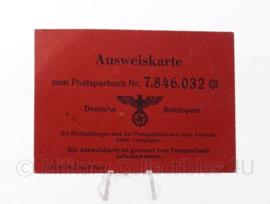 WO2 Duitse Ausweiskarte  - 10 x 7 cm - origineel