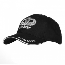 Baseball cap - black - airborne and jumpwing