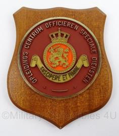 KL Landmacht wandbord  Opleidings Centrum Officieren Speciale Diensten - afmeting 14 x 17,5 cm - origineel