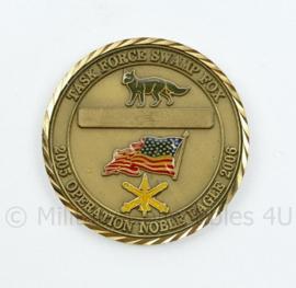 Zeldzame coin South Carolina Army National Guard Task Force Swamp Fox - diameter 5 cm - origineel