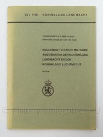 KL Landmacht en KLu Luchtmacht instructie reglement voor de militaire ambtenaar - VS 2-1498 - afmeting 22 x 16 cm - origineel