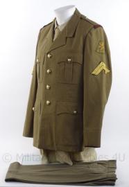 """KL Koninklijke Landmacht uniform jas met broek - """"prins Maurits"""" - maat M - Belgische makelij - origineel"""