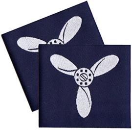 PAIR Royal Air Force Blue Rank Slides/Epaulettes (Senior Aircraftman) - origineel