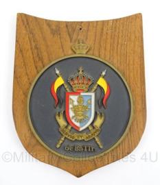 Belgische leger wandbord 104 VAGP - afmeting 14x 17 cm - origineel