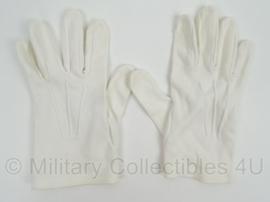 KL Landmacht witte GLT Gala Tenue handschoenen - gebruikt - Origineel