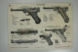 Bord P08 Luger 39,5 x 28,5 cm