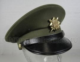 Leger platte pet groen - met insigne - veel op voorraad - origineel