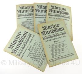 Boek Marine Rundschau - 1921 - set van 5 boeken - origineel