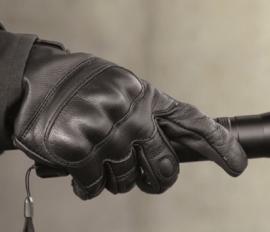 Tactical Glove Handschoen - echt leer - Zwart
