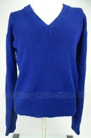 Nederlandse oud model Korps Rijkspolitie trui zonder patch Felblauw - maat 8 = 3xl - origineel