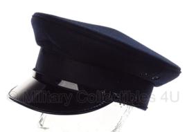 Politie platte pet - zonder insigne  -  Donkerblauw, grof wol, rode voering - maat 55 t/m 59- origineel