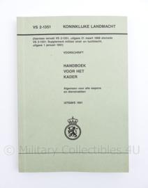 Koninklijke landmacht handboek voor het kader VS-2-1351 - origineel