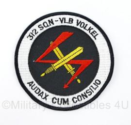 KLU Luchtmacht embleem 312 Squadron Vliegbasis Volkel Audax Cum Consilio - diameter 10 cm - origineel