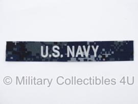 US Navy NWU 1 branch tape/naamlint blue/silver - nieuw gemaakt