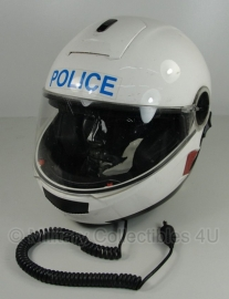 Britse politie motor systeemhelm - merk Shoei model Multitec nr 2