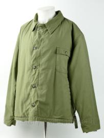 USN US Navy Deck jacket winter jacket OD green - met rug opdruk: Harley Davidson Motorcycles - maat XL - origineel