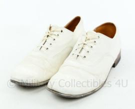 British Royal Navy en KM Koninklijke Marine canvas tropical Shoe white - gebruikt - size 8 - origineel