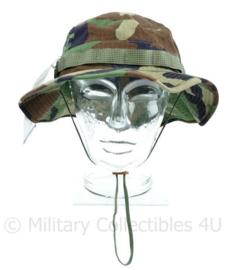 US Army en Korps Mariniers boonie bush hat woodland - maker Propper - NIEUW met aangehecht label - maat 7 1/2 - origineel
