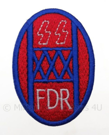 "US Fury FDR 30th infantry division ""the old Hickory"" embleem -  afmeting 4,5 x 7 cm - replica WO2"