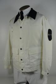 Politie jas zomer -  Heren - wit met donkere of witte kraag - maat 54 - origineel