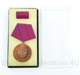 DDR medaille für treue Pflichterfüllung in der Zivilverteidigung inclusief doosje - ter decoratie - origineel