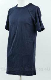 Defensie Tshirt donkerblauw korte mouw - nieuw - maat 7585/9505 - origineel