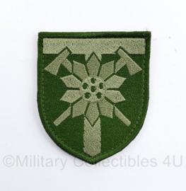 Oekraïense leger embleem - met klittenband - 8 x 7  cm - origineel