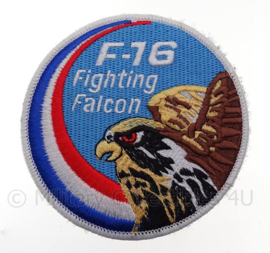 """KLu Koninklijke Luchtmacht F-16 """"Fighting Falcon"""" -  met klittenband - diameter 10 cm"""