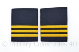 Nederlandse Politie huidig epauletten paar -  Agent - 7 x 5,5 cm - origineel