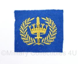 Gemeentepolitie te water Brigadier embleem - geel op blauw  - 8,5 x 7 cm -  origineel