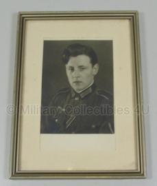 Foto in lijst gefreiter - 19 x 14 cm. orgineel
