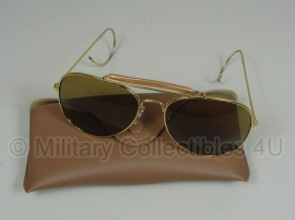 US Air Force USAF zonnebril met hoes - Bruin glas