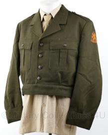 KL 1971 kort model DT uniform jas met eenheid embleem 4e divisie - maat 52 - origineel