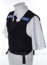 Britse politie kogel- en steekwerend vest hoes- (zonder inhoud) - model zonder zakken - merk Second Chance - origineel