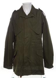 Nederlandse MVO Field Jacket met capuchon - zeldzaam vroeg 1956 model - borstomvang 96-100 cm - origineel