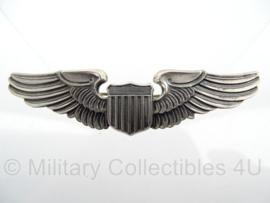 WO2 USAAF pilot wing borst embleem - L.G. Balfour Company LGB Sterling zilver - Origineel