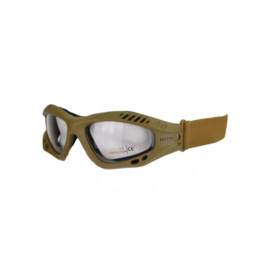 Tactical bril - heldere glazen  -  Coyote TAN frame